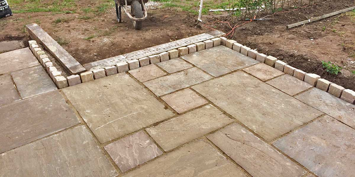 Adding stylish edging to a patio
